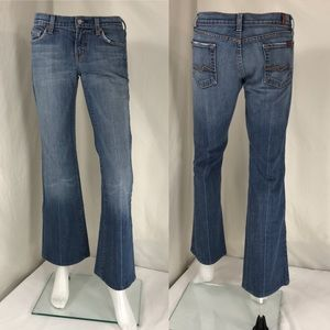 7 for all mankind flare, women's jeans size 26